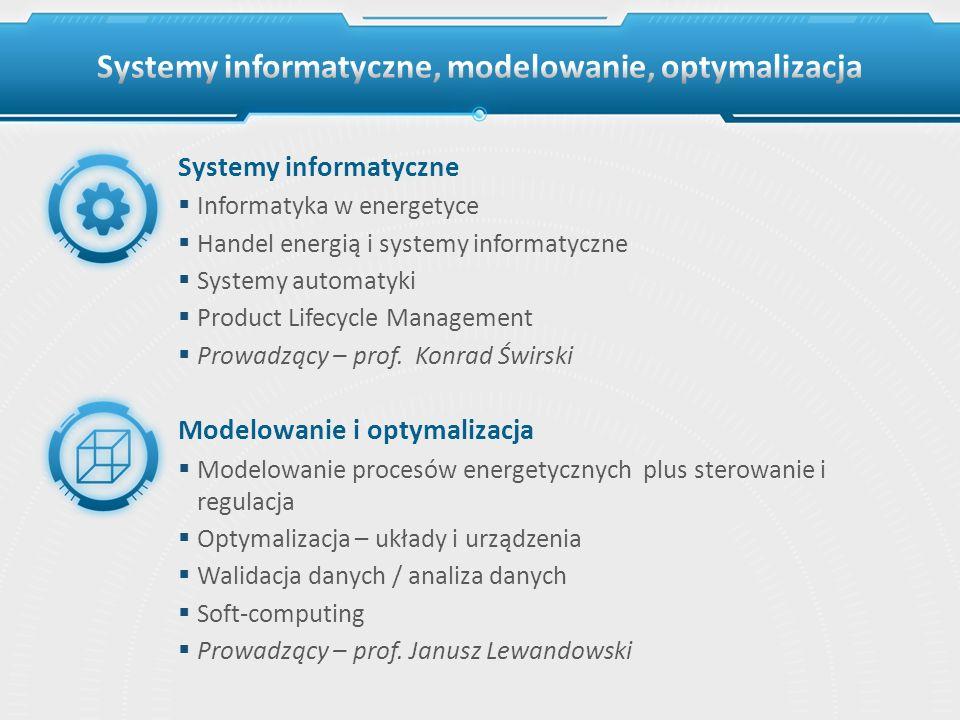 Systemy informatyczne, modelowanie, optymalizacja