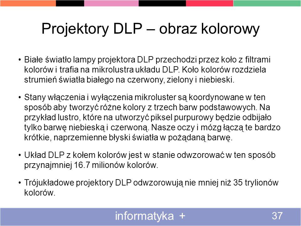Projektory DLP – obraz kolorowy