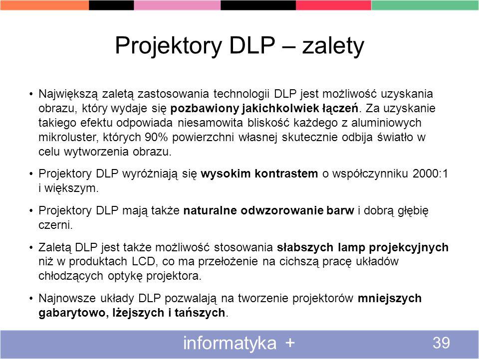 Projektory DLP – zalety