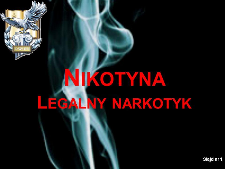 Nikotyna Legalny narkotyk Slajd nr 1