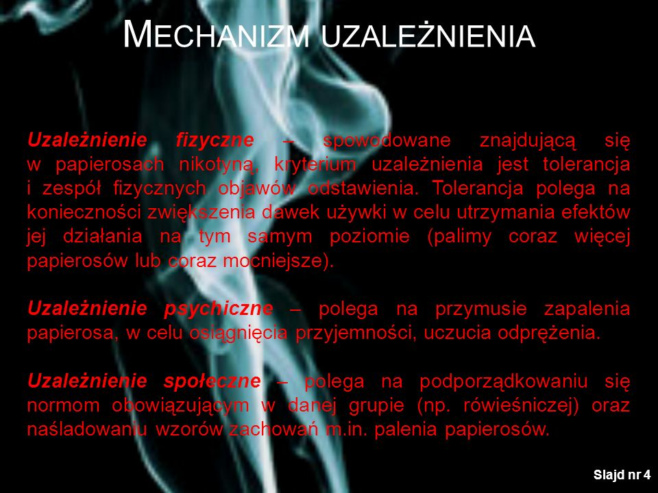 Mechanizm uzależnienia