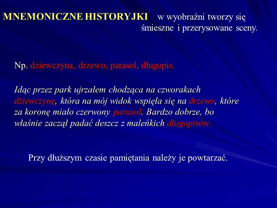 MNEMONICZNE HISTORYJKI