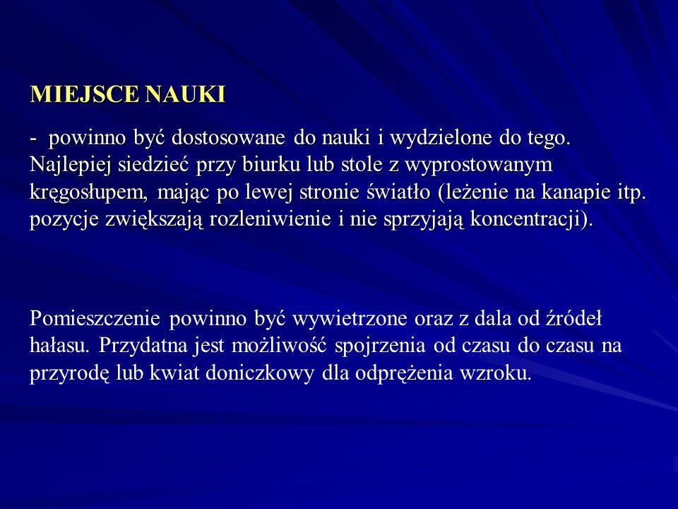 MIEJSCE NAUKI