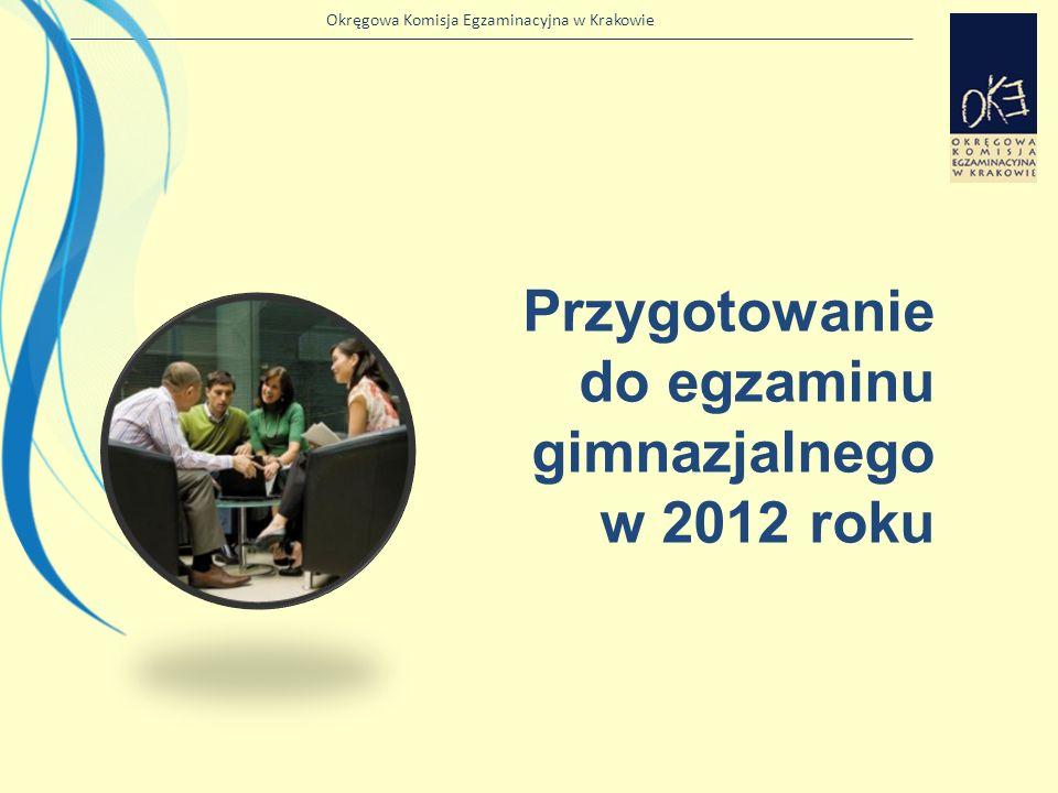 Przygotowanie do egzaminu gimnazjalnego w 2012 roku