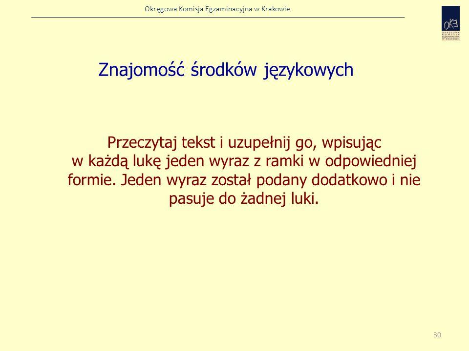 Znajomość środków językowych