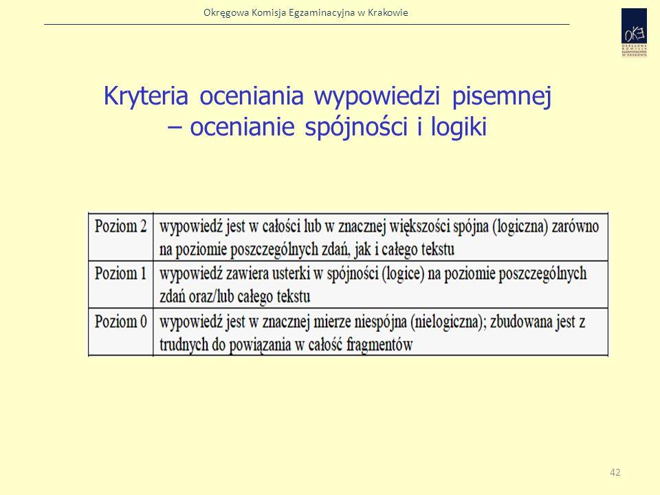 Kryteria oceniania wypowiedzi pisemnej – ocenianie spójności i logiki