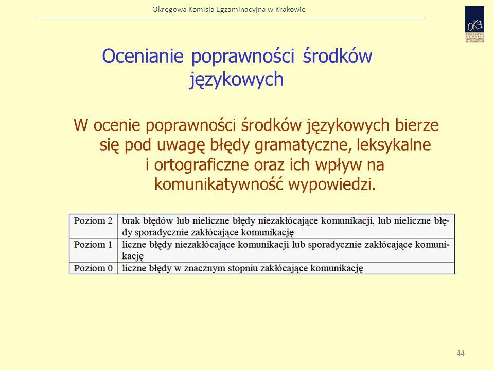 Ocenianie poprawności środków językowych