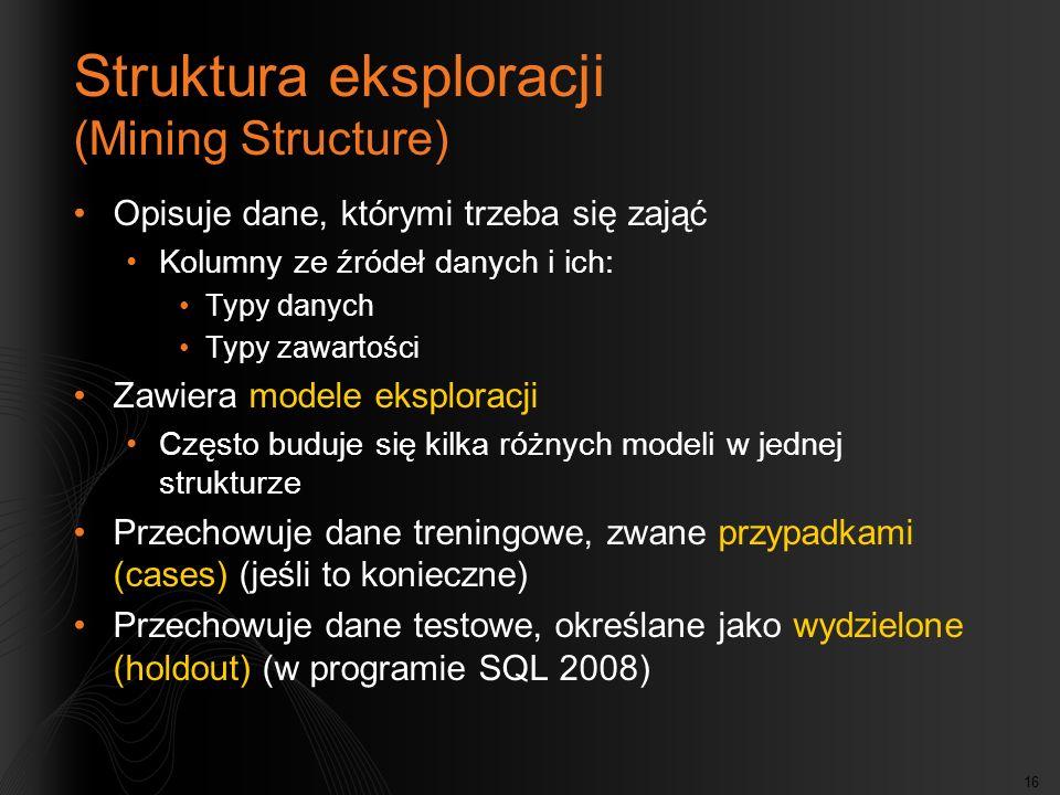 Struktura eksploracji (Mining Structure)