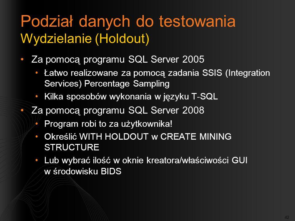 Podział danych do testowania Wydzielanie (Holdout)