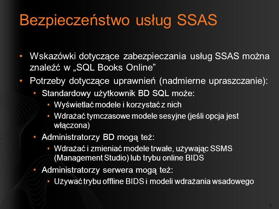 Bezpieczeństwo usług SSAS