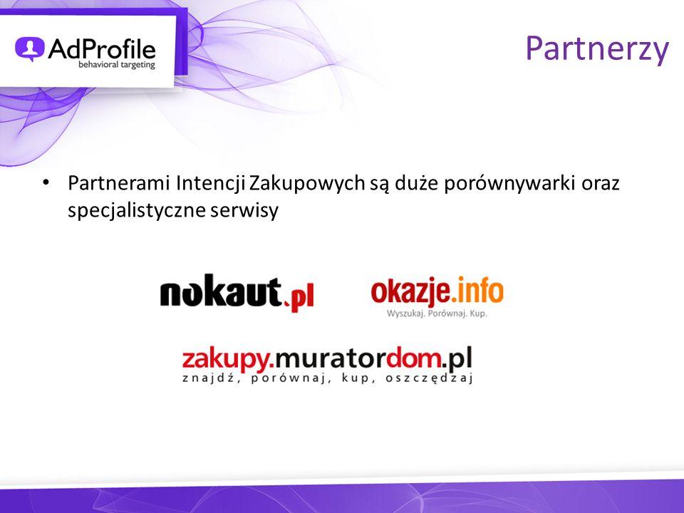 Partnerzy Partnerami Intencji Zakupowych są duże porównywarki oraz specjalistyczne serwisy