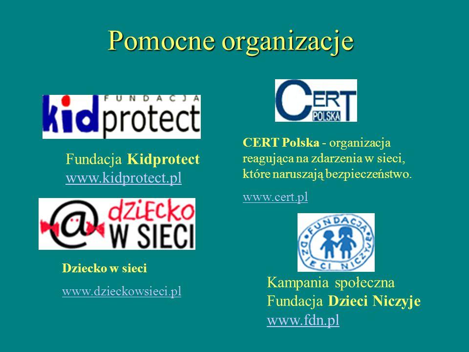 Pomocne organizacje Fundacja Kidprotect www.kidprotect.pl