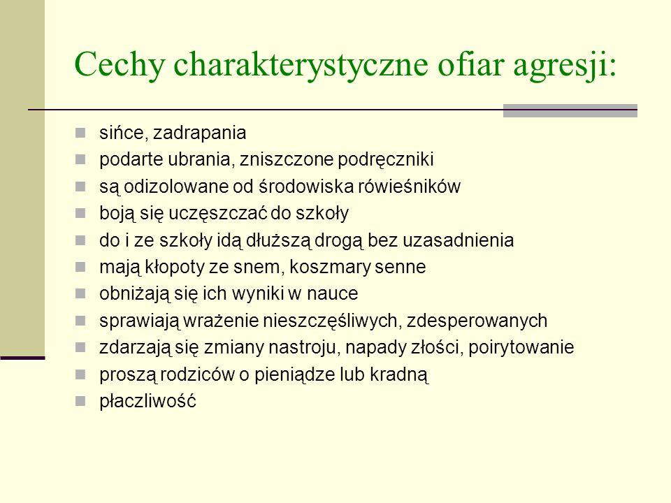 Cechy charakterystyczne ofiar agresji:
