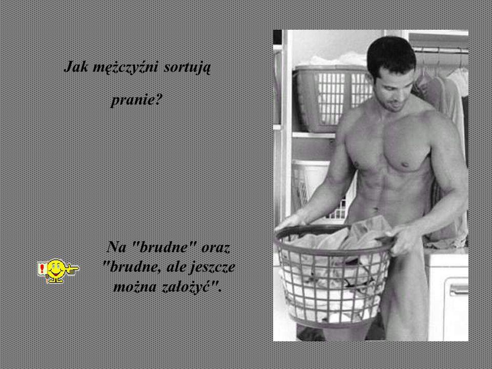 Jak mężczyźni sortują pranie