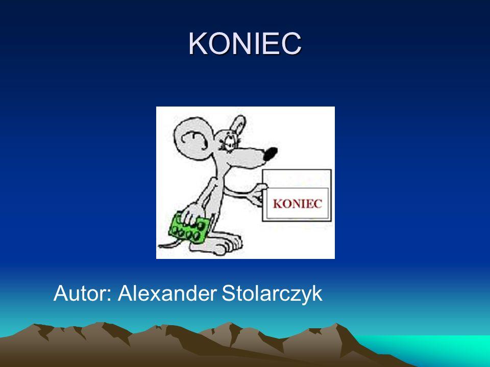 KONIEC Autor: Alexander Stolarczyk