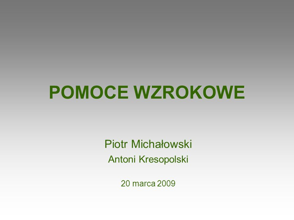 Piotr Michałowski Antoni Kresopolski 20 marca 2009