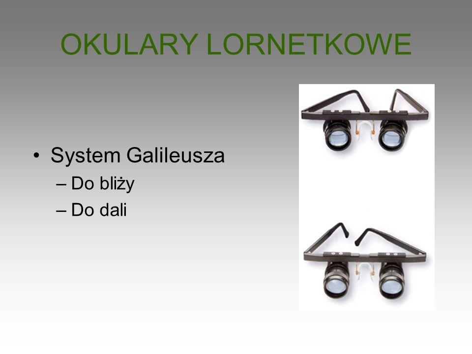 OKULARY LORNETKOWE System Galileusza Do bliży Do dali