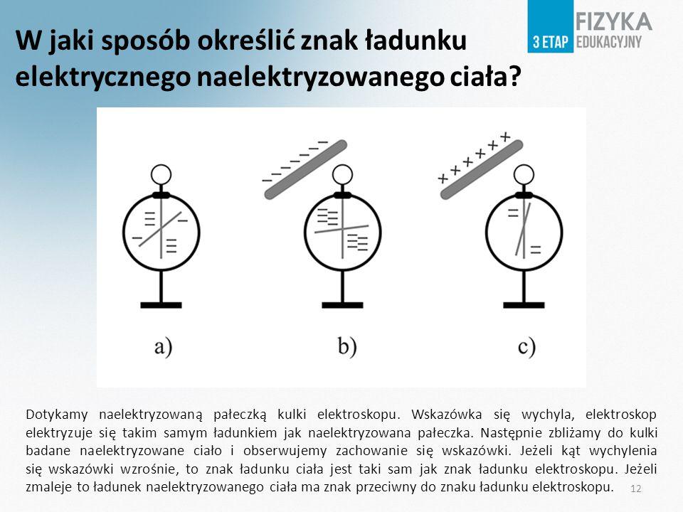 W jaki sposób określić znak ładunku elektrycznego naelektryzowanego ciała
