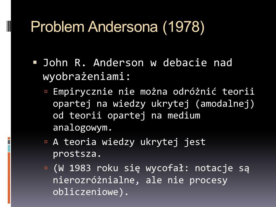 Problem Andersona (1978) John R. Anderson w debacie nad wyobrażeniami: