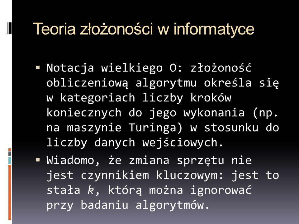 Teoria złożoności w informatyce