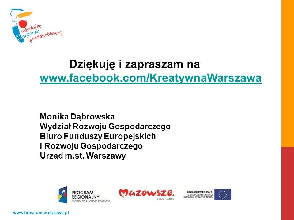 Dziękuję i zapraszam na www.facebook.com/KreatywnaWarszawa
