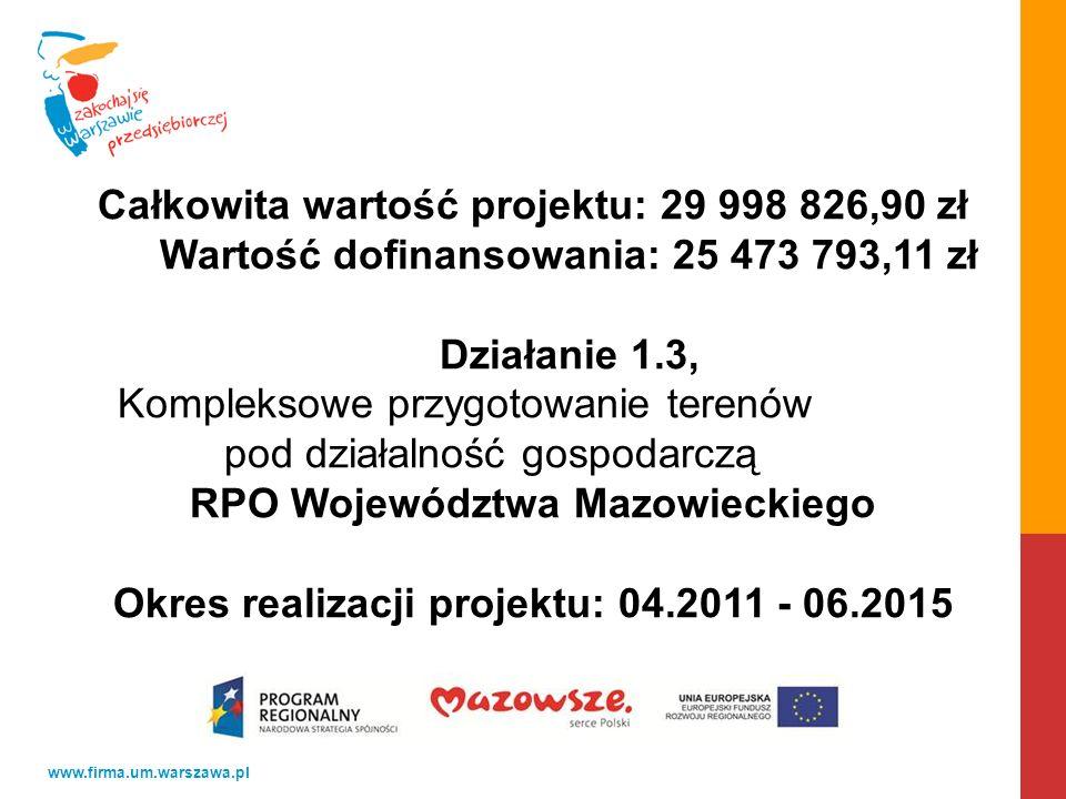 Całkowita wartość projektu: 29 998 826,90 zł
