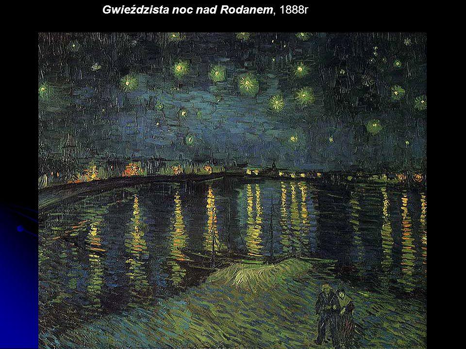 Gwieździsta noc nad Rodanem, 1888r