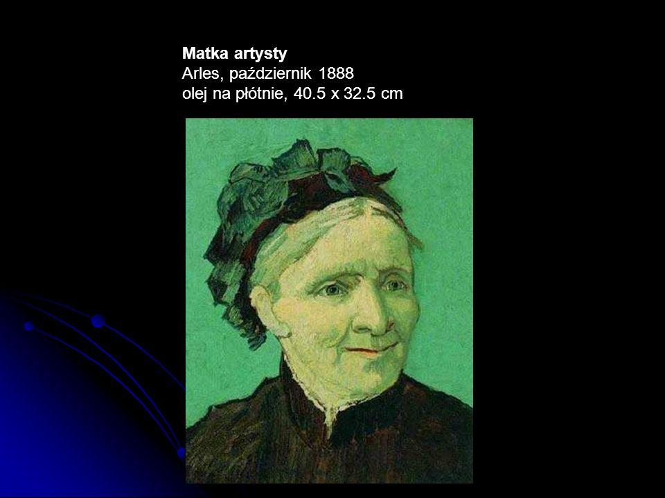 Matka artysty Arles, październik 1888 olej na płótnie, 40.5 x 32.5 cm