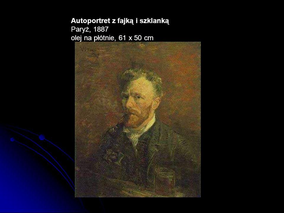 Autoportret z fajką i szklanką