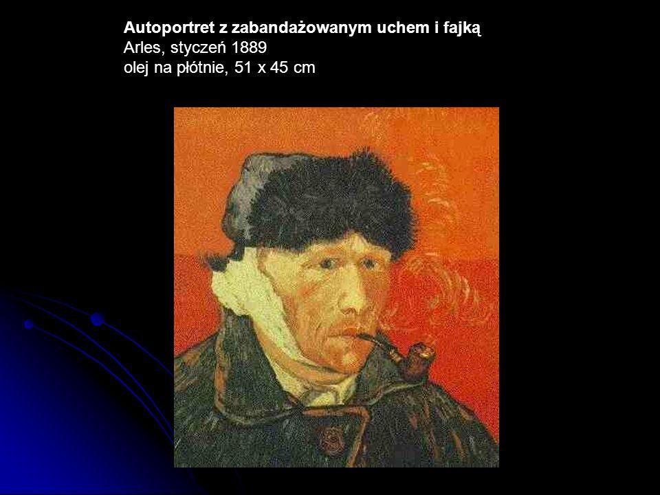 Autoportret z zabandażowanym uchem i fajką