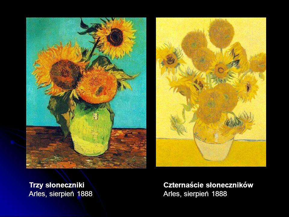 Trzy słoneczniki Arles, sierpień 1888 Czternaście słoneczników Arles, sierpień 1888