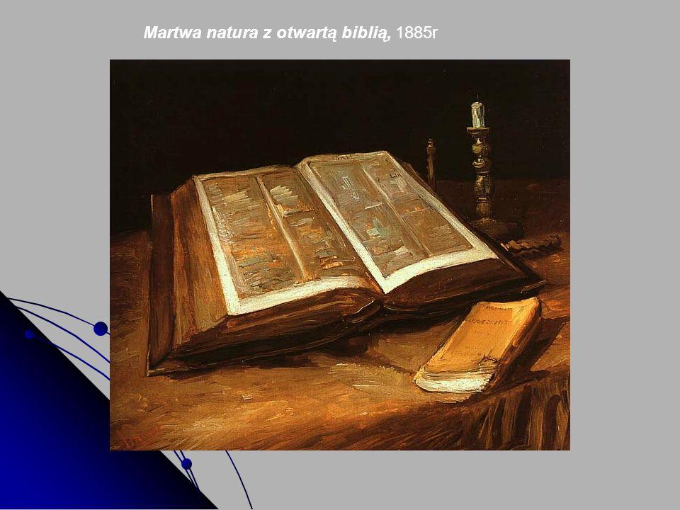Martwa natura z otwartą biblią, 1885r