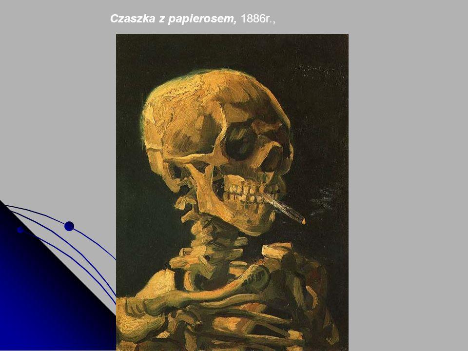 Czaszka z papierosem, 1886r.,