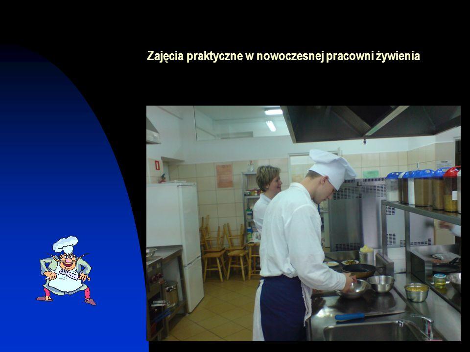 Zajęcia praktyczne w nowoczesnej pracowni żywienia
