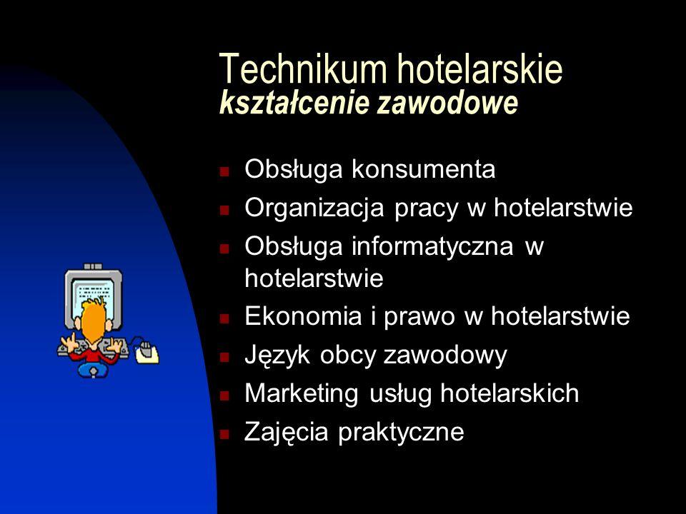 Technikum hotelarskie kształcenie zawodowe