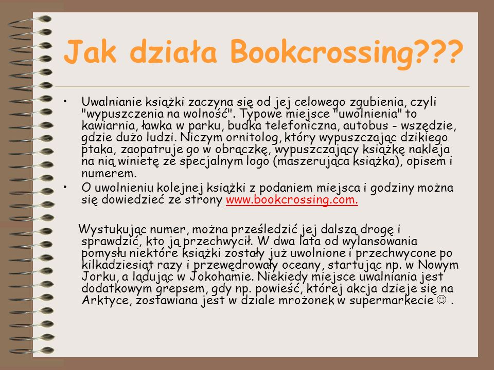 Jak działa Bookcrossing