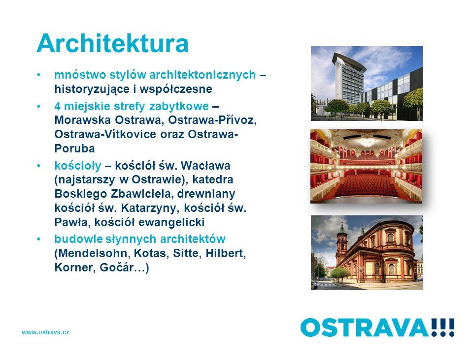 Architekturamnóstwo stylów architektonicznych – historyzujące i współczesne.