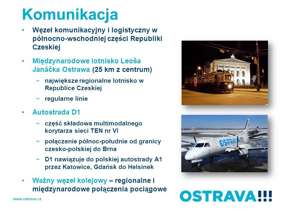 KomunikacjaWęzeł komunikacyjny i logistyczny w północno-wschodniej części Republiki Czeskiej.