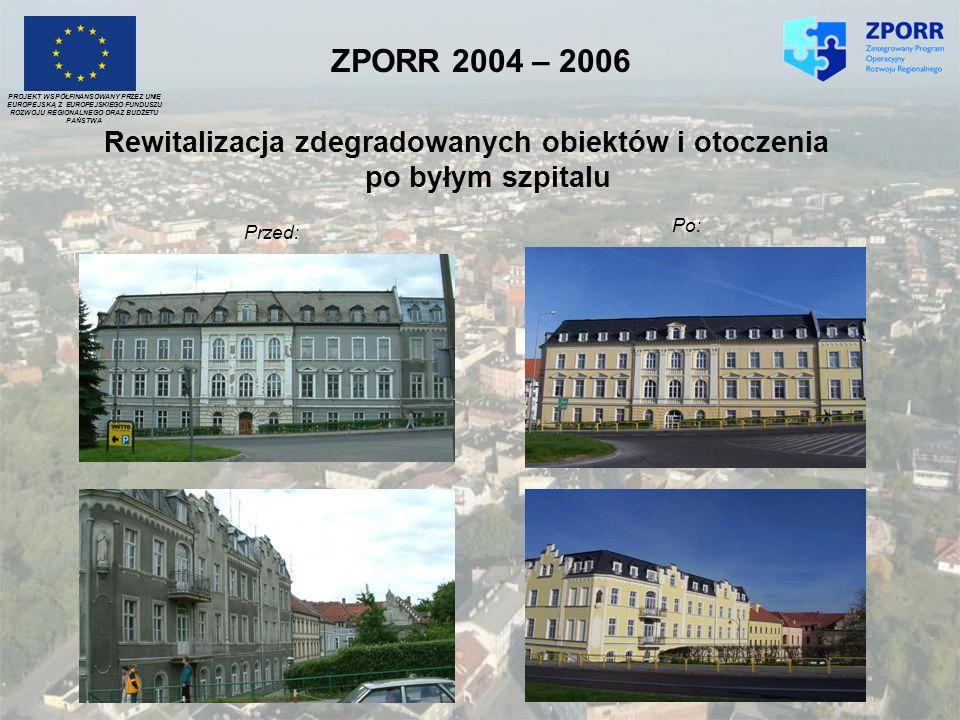 Rewitalizacja zdegradowanych obiektów i otoczenia po byłym szpitalu