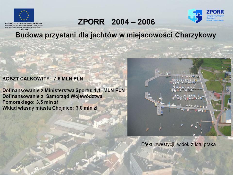 ZPORR 2004 – 2006 PROJEKT WSPÓŁFINANSOWANY PRZEZ UNIĘ. EUROPEJSKĄ Z EUROPEJSKIEGO FUNDUSZU. ROZWOJU REGIONALNEGO ORAZ BUDŻETU.