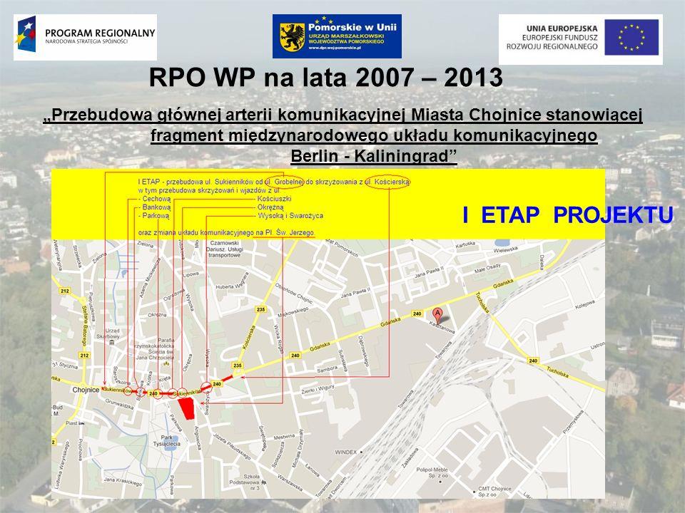 RPO WP na lata 2007 – 2013 I ETAP PROJEKTU