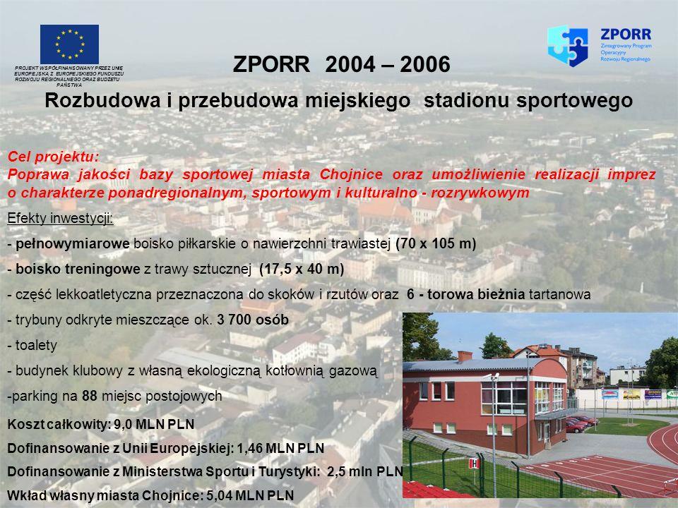 ZPORR 2004 – 2006PROJEKT WSPÓŁFINANSOWANY PRZEZ UNIĘ. EUROPEJSKĄ Z EUROPEJSKIEGO FUNDUSZU. ROZWOJU REGIONALNEGO ORAZ BUDŻETU.