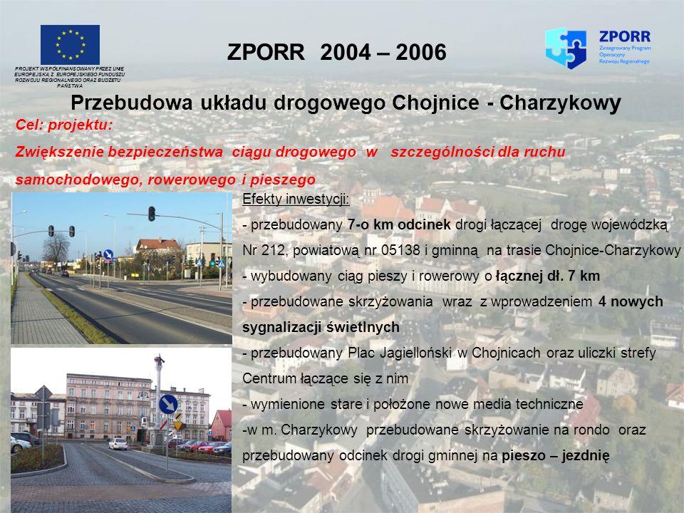 Przebudowa układu drogowego Chojnice - Charzykowy