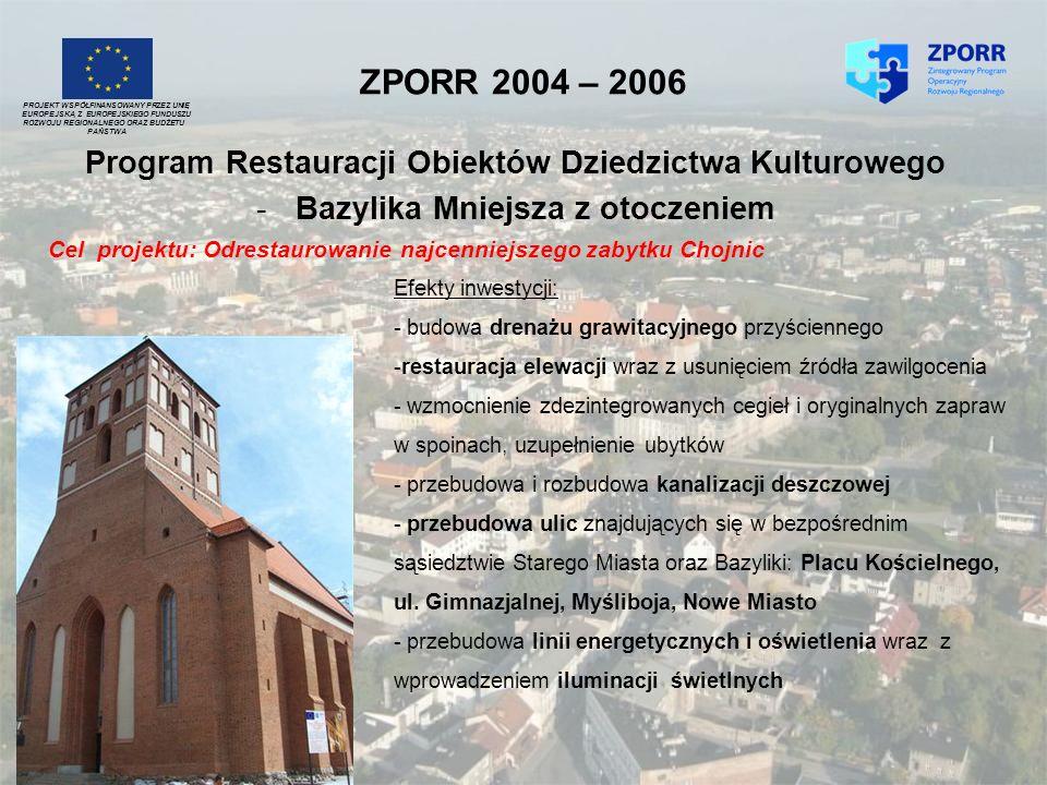 ZPORR 2004 – 2006 Program Restauracji Obiektów Dziedzictwa Kulturowego