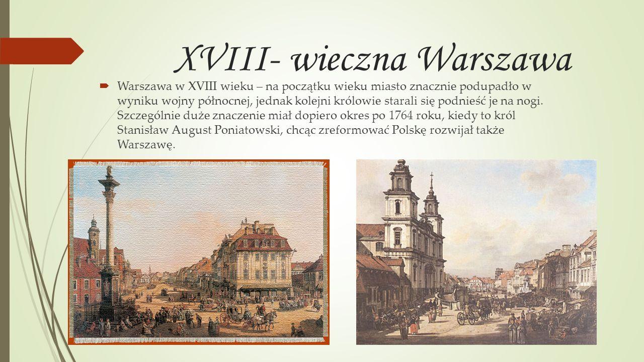 XVIII- wieczna Warszawa
