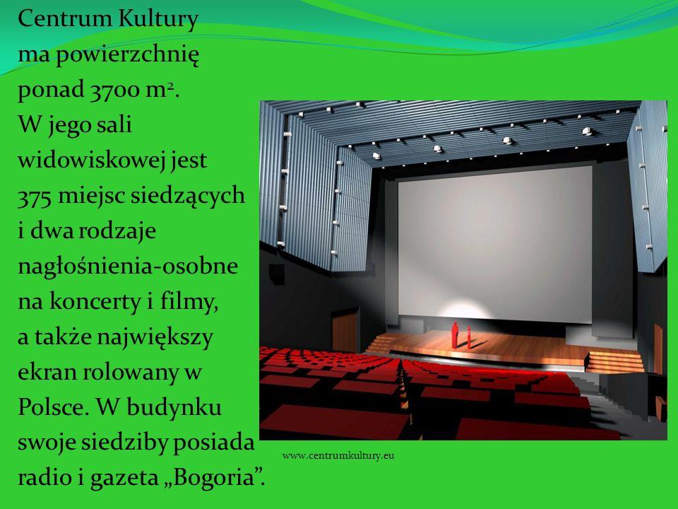 Centrum Kultury ma powierzchnię ponad 3700 m2