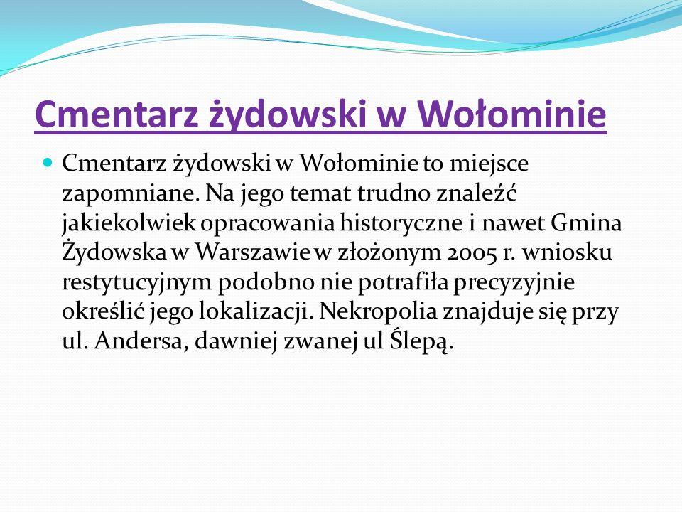 Cmentarz żydowski w Wołominie