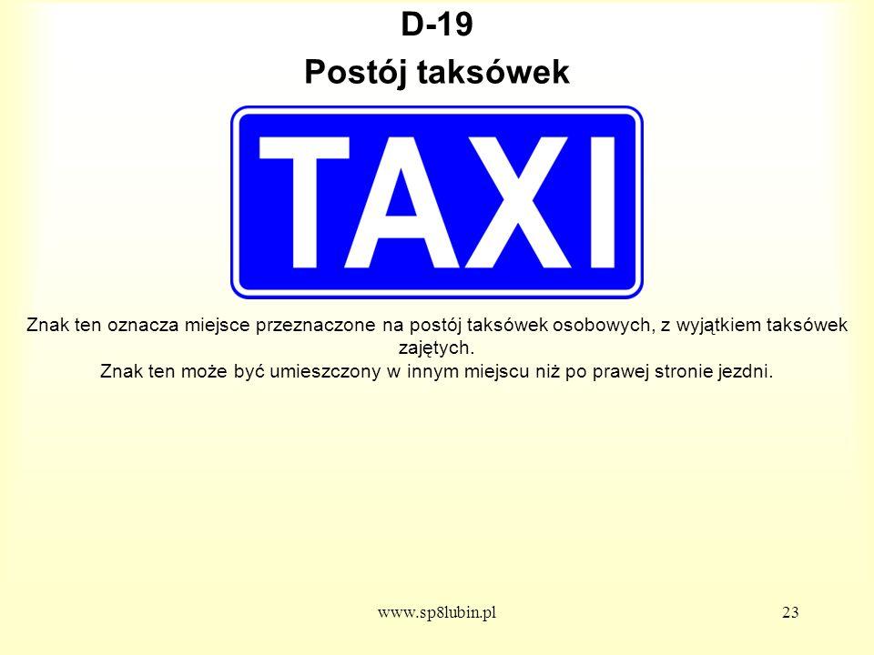 D-19 Postój taksówek.