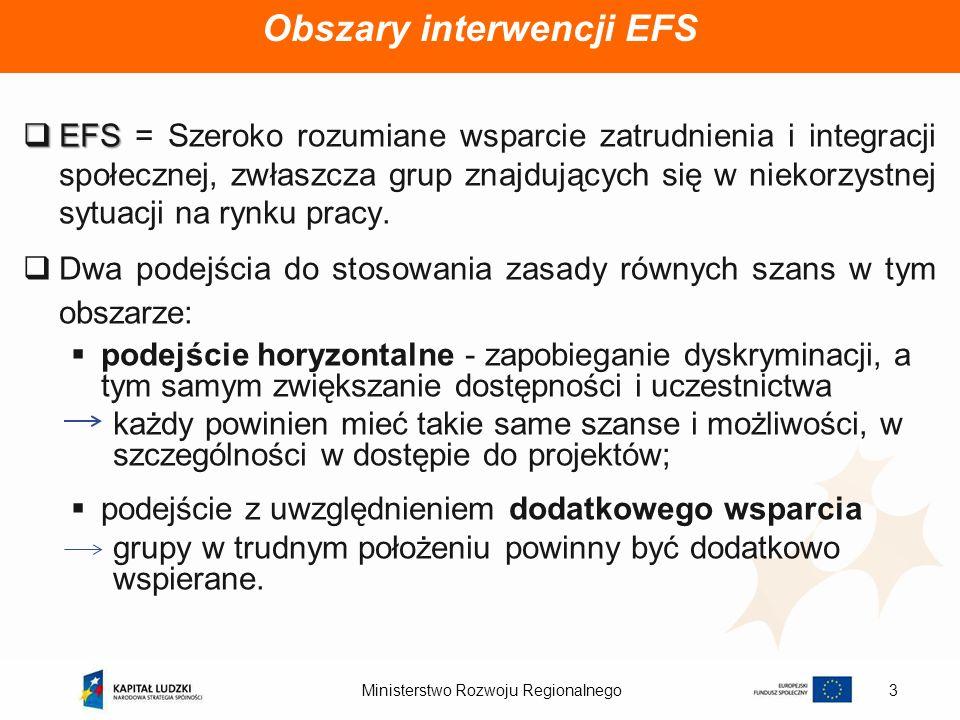 Obszary interwencji EFS
