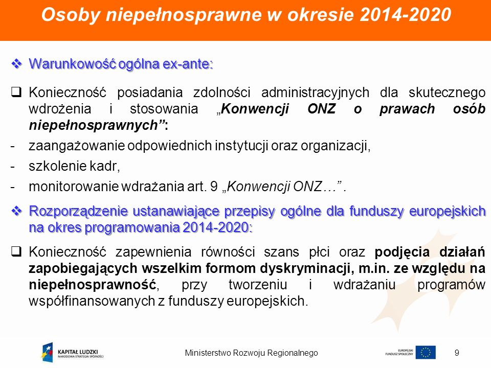 Osoby niepełnosprawne w okresie 2014-2020
